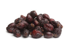 Dried rose hips. On white background Stock Image