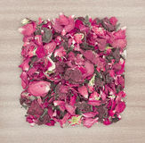 Dried rose petal pot-pourri Stock Photos