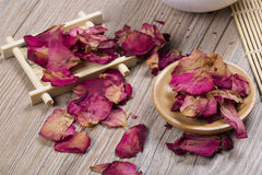 Dried rose petals Stock Photography