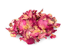 Dried rose petals for natural herbal drink. Stock Photo