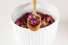Dried rose petals: for tea, alternative medicine, pot-pourri Royalty Free Stock Image