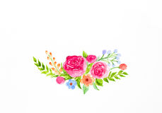 Free Dried Rose With Falling Petals On White Stock Images - 59859844