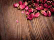 Dried rosebuds Royalty Free Stock Images