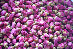 Dried rosebuds. Background texture closeup Royalty Free Stock Photography