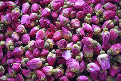 Dried rosebuds. Background texture closeup Royalty Free Stock Images
