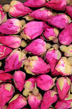 Dried Rosebuds on a black. Royalty Free Stock Photography