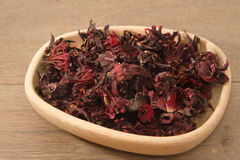 Dried roselle (Hibiscus sabdariffa) or rosella fruit Royalty Free Stock Images