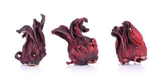 Dried roselle isolated on the white background Stock Photo