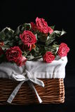 Dried roses. In the basket Royalty Free Stock Photography