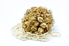 Dried roses bouquet isolated Stock Images
