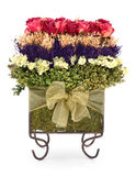 Dried Roses and Flowers Topiary Bouquet Royalty Free Stock Image