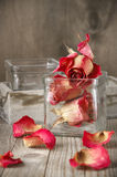 Dried roses in jar Royalty Free Stock Photo