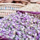 Dried roses. In a market in Morocco Stock Images
