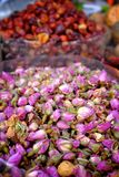 Dried roses at the spice market Stock Images