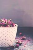 Dried roses tea Stock Photo