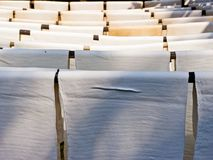 Dried rubber sheet Stock Photo