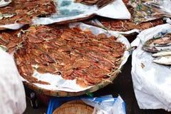 Dried salt fish Stock Photos