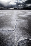 Dried salt flats Stock Photo