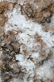Dried salt on floor texture marine background Stock Photo