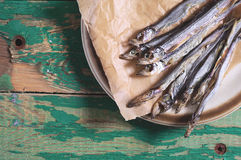 Dried salted capelin Stock Images