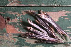 Dried salted capelin Stock Photos