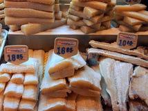 Dried and Salted Cod, Saint Josep Market, Barcelona Stock Photo