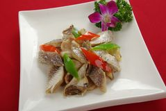 Dried salted fish Stock Photo