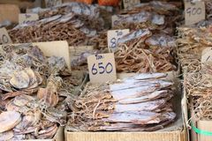 Dried salted fish Royalty Free Stock Photo