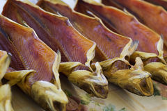 Dried salted trout on a fish market Stock Photography