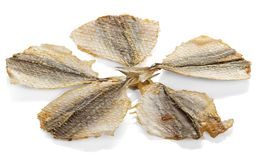 Dried salty fishes, snack to beer Stock Photo