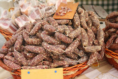 Dried sausages Stock Photography