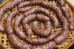 Dried sausages Stock Image