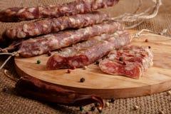 Dried sausages Stock Photos