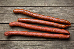Dried sausages Royalty Free Stock Photos