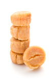 Dried scallop stack up Stock Photo