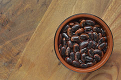 Dried Scarlet Runner Beans Stock Photography
