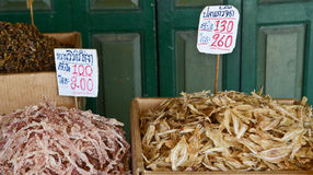 Dried sea food in Thailand Stock Image