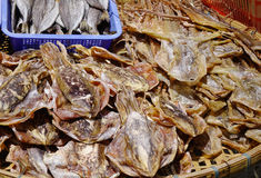 Dried seafood at the market Royalty Free Stock Image