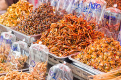 Dried seafood. Dried seafood for sale, Thailand Stock Photos