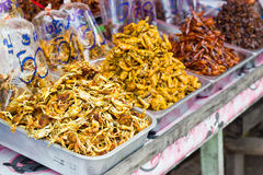 Dried seafood. Dried seafood for sale, Thailand Royalty Free Stock Photos