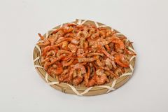 Dried seafood shrimp stock images
