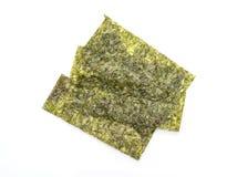 Dried seaweed on white Stock Photo