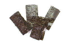 Dried seaweed,nori. Sheet of dried nori , dried seaweed stock photography