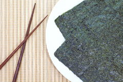 Dried seaweed,nori Royalty Free Stock Photo