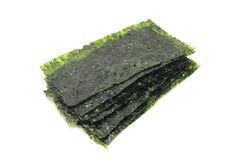 Dried seaweed plate. On a white background Royalty Free Stock Photos