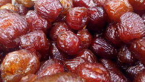 Dried Seedless Dates. For snacks during ramadhan Stock Images