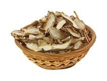 Dried Shitaki Mushrooms Front View Stock Photos