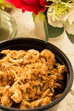 Dried shredded pork in the bowl Royalty Free Stock Photo