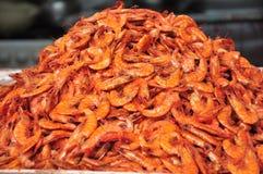 Dried Shrimp. Pile of dried shrimp for cooking Stock Photos