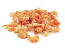 Dried shrimp. On white background Stock Image